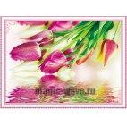 Алмазная вышивка Отражение тюльпанов