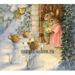 Алмазная вышивка Мышиное Рождество