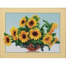Вышивка бисером Солнечные цветы