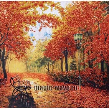 Вышивка бисером Осенний парк