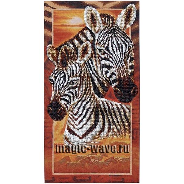 Вышивка бисером Африка. Зебры