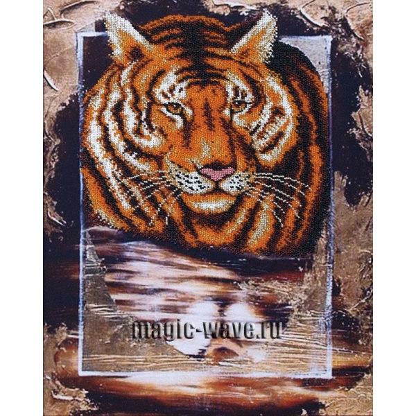 Вышивка бисером Тигр
