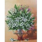 Вышивка бисером Весенняя ваза