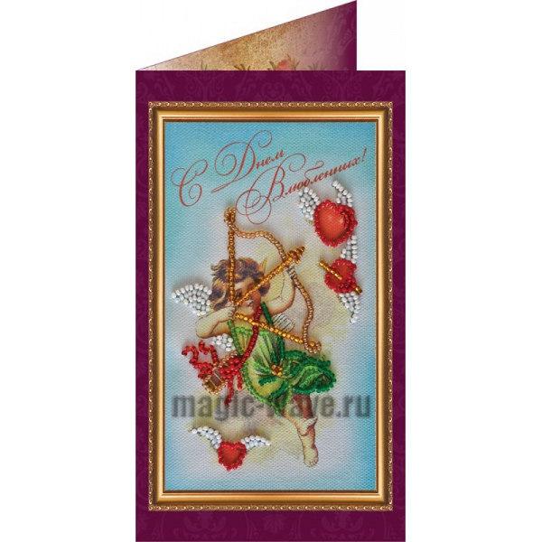Вышивка бисером С днем влюбленных (открытка)