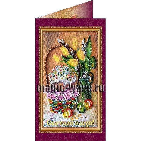 Вышивка бисером Пасхальная (открытка)