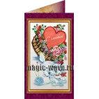 Вышивка бисером С днем бракосочетания (открытка)