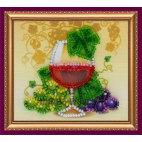 Вышивка бисером Магнит Бокал вина
