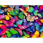 Алмазная вышивка Разноцветные бабочки