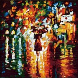 Алмазная вышивка «В дождь» Леонида Афремова
