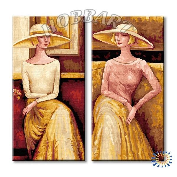 Дамы в шляпах (без подрамника)