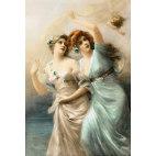 Алмазная вышивка Две дамы и Амур
