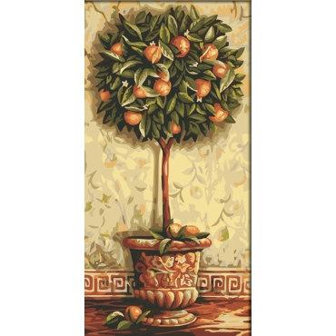 """Раскраска по номерам: """"Апельсиновое дерево"""" Menglei ..."""