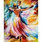 Алмазная вышивка Танец красок
