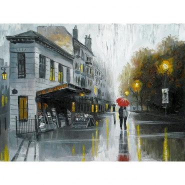 Алмазная вышивка Париж после дождя