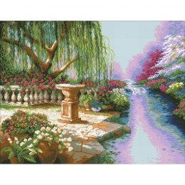 Алмазная вышивка Ивовый сад