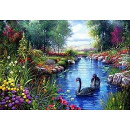 Алмазная вышивка Прекрасные лебеди