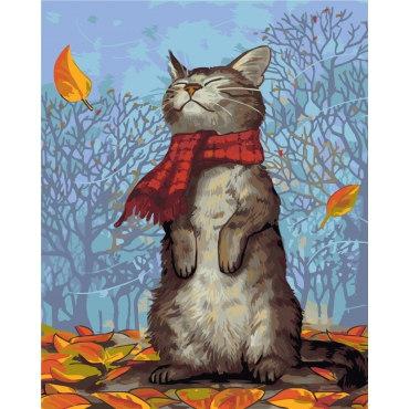Кот в шарфе