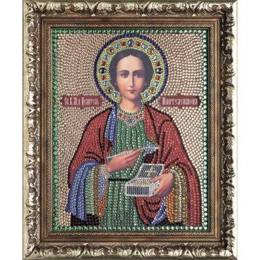 """Алмазная вышивка икона """"Великомученик Пантелеимон Целитель"""""""