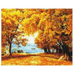 Алмазная вышивка Осенняя Аллея