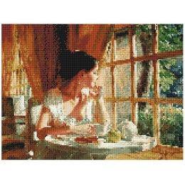 Алмазная вышивка Столик у окна
