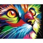 Алмазная вышивка Радужный кот