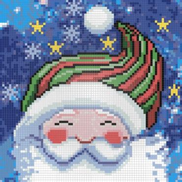 Алмазная вышивка Портрет Деда Мороза