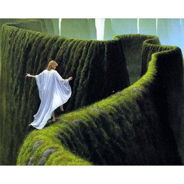 Алмазная вышивка Зеленый лабиринт