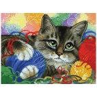 Котик с клубочками