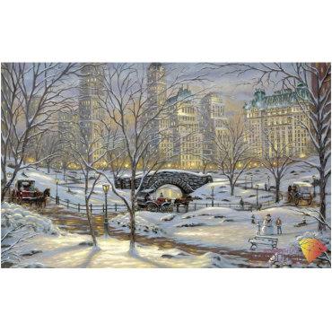 Алмазная вышивка Зима в Нью-Йорке