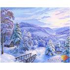 Алмазная вышивка Снежная сказка