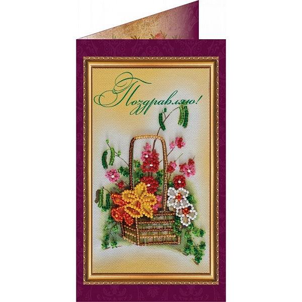 Вышивка бисером Поздравляю-13 (открытка)