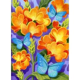 Алмазная вышивка Бабочки синие