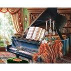 Алмазная вышивка Старый рояль
