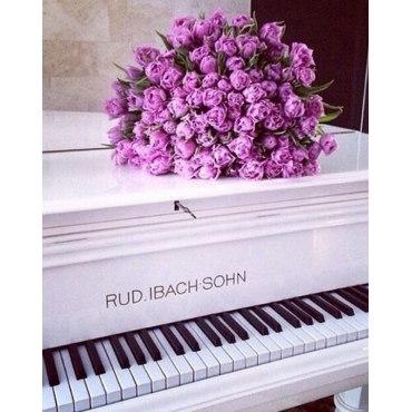 Алмазная вышивка Розы на рояле