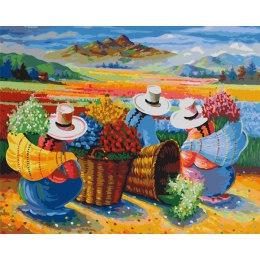 Сбор урожая цветов в Перу