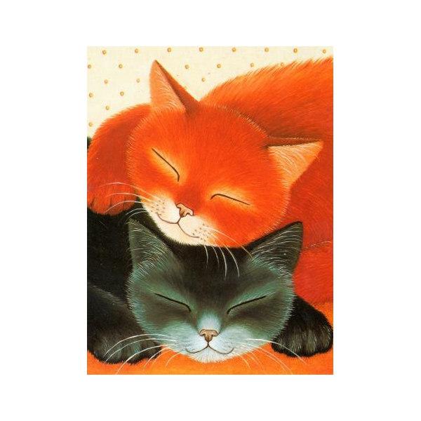 Алмазная вышивка Спящие коты