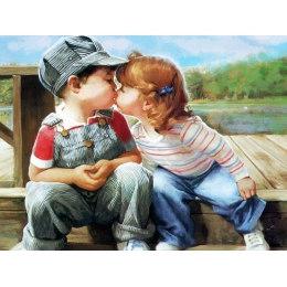 Алмазная вышивка Поцелуй
