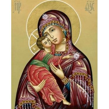 Алмазная вышивка Владимирская икона Божией Матери