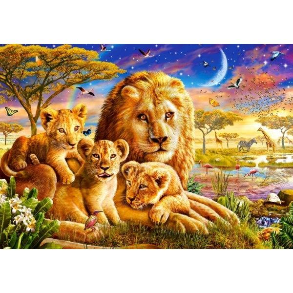 Пазл Семья львов