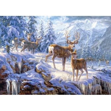 Пазл Зимние горы