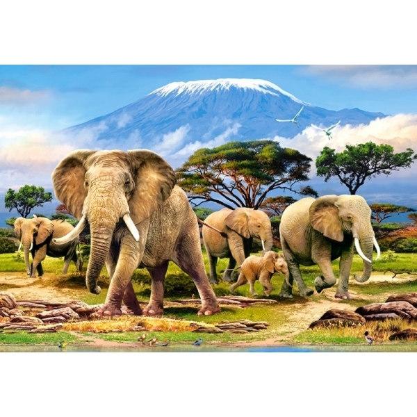 Пазл Слоны