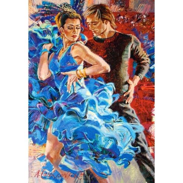 Пазл Танцы в бирюзовых тонах