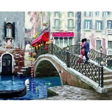 Алмазная вышивка Свидание в Венеции
