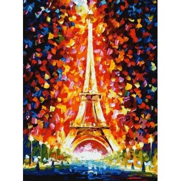 Париж - огни Эйфелевой башни «Леонид Афремов»
