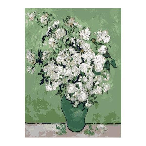 Букет в зелёной вазе. Ван Гог.