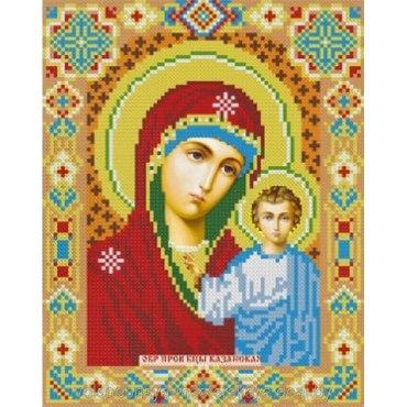 Алмазная вышивка Икона «Казанская Богородица»