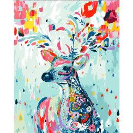 Разрисованный олень