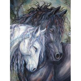 Алмазная вышивка Пара лошадей