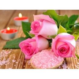 Алмазная вышивка Розы и свечи
