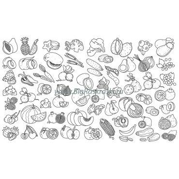 Плакат-раскраска «Съедобная радуга» (60х100 см)